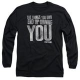 Fight Club Owning You Adult Long Sleeve Classic T-Shirt Black
