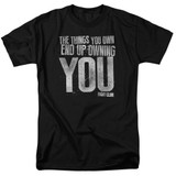 Fight Club Owning You Adult 18/1 Classic T-Shirt Black