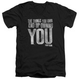 Fight Club Owning You Adult V-Neck Classic T-Shirt Black