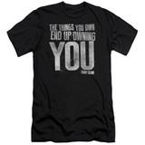 Fight Club Owning You Premuim Canvas Adult Slim Fit Classic T-Shirt Black