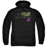 Fight Club In Tyler We Trust Adult Pullover Classic Hoodie Sweatshirt Black