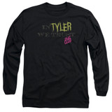 Fight Club In Tyler We Trust Adult Long Sleeve Classic T-Shirt Black