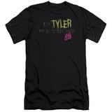 Fight Club In Tyler We Trust Premuim Canvas Adult Slim Fit Classic T-Shirt Black