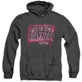 Fight Club Project Mayhem Adult Heather Classic Hoodie Sweatshirt Black