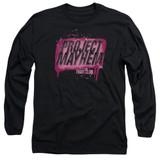 Fight Club Project Mayhem Adult Long Sleeve Classic T-Shirt Black