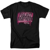 Fight Club Project Mayhem Adult 18/1 Classic T-Shirt Black