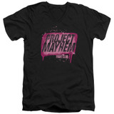 Fight Club Project Mayhem Adult V-Neck Classic T-Shirt Black