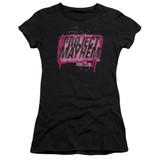 Fight Club Project Mayhem Junior Women's Sheer Classic T-Shirt Black