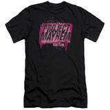 Fight Club Project Mayhem Premuim Canvas Adult Slim Fit Classic T-Shirt Black