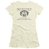 Fight Club Paper Street Junior Women's Sheer Classic T-Shirt Cream