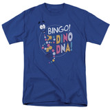 Jurassic Park Bingo Dino DNA Adult 18/1 T-Shirt Royal Blue