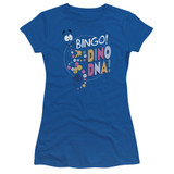 Jurassic Park Bingo Dino DNA Junior Women's Sheer T-Shirt Royal Blue