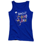 Jurassic Park Bingo Dino DNA Junior Women's Tank Top T-Shirt Royal Blue