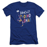 Jurassic Park Bingo Dino DNA Premium Adult 30/1 T-Shirt Royal Blue