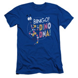 Jurassic Park Bingo Dino DNA Adult 30/1 T-Shirt Royal Blue