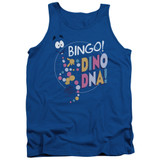 Jurassic Park Bingo Dino DNA Adult Tank Top T-Shirt Royal Blue