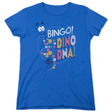 Jurassic Park Bingo Dino DNA Women's T-Shirt Royal Blue
