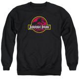 Jurassic Park 8-Bit Logo Adult Crewneck Sweatshirt Black