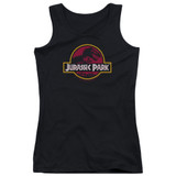 Jurassic Park 8-Bit Logo Junior Women's Tank Top T-Shirt Black