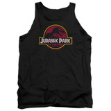 Jurassic Park 8-Bit Logo Adult Tank Top T-Shirt Black