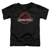 Jurassic Park 8-Bit Logo Toddler T-Shirt Black