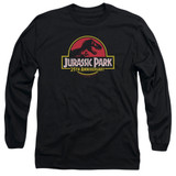 Jurassic Park 25th Anniversary Logo Adult Long Sleeve T-Shirt Black