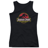Jurassic Park 25th Anniversary Logo Junior Women's Tank Top T-Shirt Black