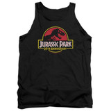 Jurassic Park 25th Anniversary Logo Adult Tank Top T-Shirt Black