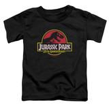 Jurassic Park 25th Anniversary Logo Toddler T-Shirt Black