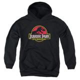 Jurassic Park 25th Anniversary Logo Youth Pullover Hoodie Sweatshirt Black