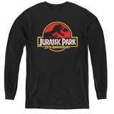 Jurassic Park 25th Anniversary Logo Youth Long Sleeve T-Shirt Black