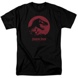 Jurassic Park T-Rex Sphere Adult 18/1 T-Shirt Black