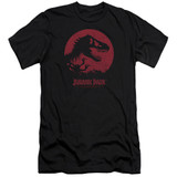 Jurassic Park T-Rex Sphere Premium Adult 30/1 T-Shirt Black