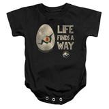 Jurassic Park Life Finds A Way Baby Onesie T-Shirt Black