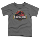 Jurassic Park Stone Logo Toddler T-Shirt Charcoal