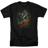 Jurassic Park Clever Girl Adult 18/1 T-Shirt Black