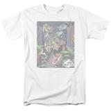 Jurassic Park Giant Door Adult 18/1 T-Shirt White