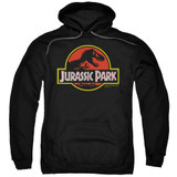 Jurassic Park Classic Logo Adult Pullover Hoodie Sweatshirt Black