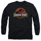 Jurassic Park Classic Logo Adult Long Sleeve T-Shirt Black