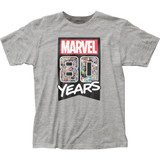 Marvel Comics 80 Years Fitted Jersey Classic T-Shirt