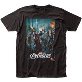 The Avengers Poster Fitted Jersey Classic T-Shirt