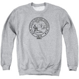 Parks and Recreation Pawnee Seal Adult Crewneck Sweatshirt Athletic Heather