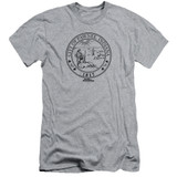 Parks and Recreation Pawnee Seal Adult 30/1 T-Shirt Athletic Heather
