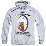 Parks and Recreation Lil Sebastian Adult Pullover Hoodie Sweatshirt Athletic Heather