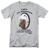 Parks and Recreation Lil Sebastian Adult 18/1 T-Shirt Athletic Heather