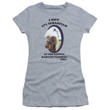 Parks and Recreation Lil Sebastian Junior Women's Sheer T-Shirt Athletic Heather