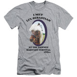 Parks and Recreation Lil Sebastian Adult 30/1 T-Shirt Athletic Heather
