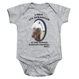 Parks and Recreation Lil Sebastian Baby Onesie T-Shirt Athletic Heather