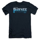 Parks and Recreation Pawnee Adult 30/1 T-Shirt Navy