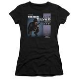 Parks and Recreation Album Cover Junior Women's Sheer T-Shirt Black